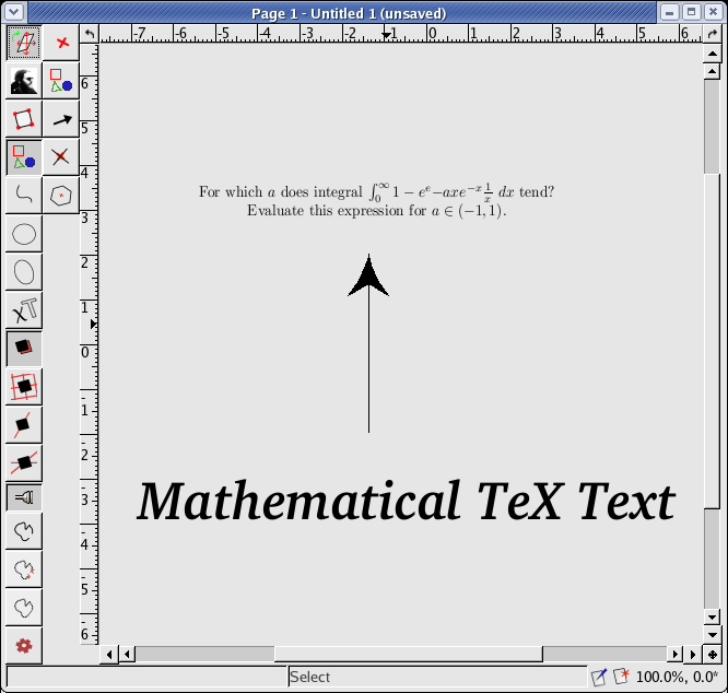 A simple example of TeX and ordinary text objects.